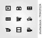 technology vector icons set.... | Shutterstock .eps vector #793419124