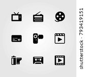 technology vector icons set.... | Shutterstock .eps vector #793419151