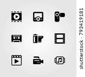 technology vector icons set.... | Shutterstock .eps vector #793419181