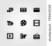 technology vector icons set.... | Shutterstock .eps vector #793419235