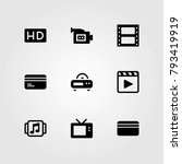 technology vector icons set. hd ... | Shutterstock .eps vector #793419919