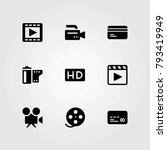 technology vector icons set.... | Shutterstock .eps vector #793419949