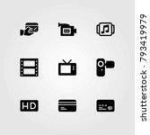 technology vector icons set.... | Shutterstock .eps vector #793419979