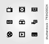 technology vector icons set.... | Shutterstock .eps vector #793420024