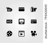 technology vector icons set. hd ... | Shutterstock .eps vector #793420045