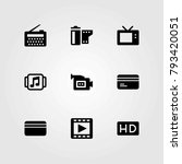 technology vector icons set.... | Shutterstock .eps vector #793420051