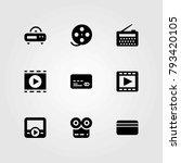 technology vector icons set.... | Shutterstock .eps vector #793420105