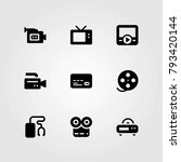 technology vector icons set.... | Shutterstock .eps vector #793420144