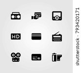 technology vector icons set.... | Shutterstock .eps vector #793420171