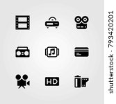 technology vector icons set.... | Shutterstock .eps vector #793420201