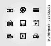 technology vector icons set.... | Shutterstock .eps vector #793420231