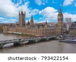 westminster palace and big ben  ... | Shutterstock . vector #793422154