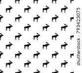 deer pattern seamless in simple ... | Shutterstock .eps vector #793423075