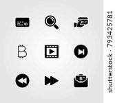 buttons vector icons set.... | Shutterstock .eps vector #793425781
