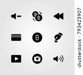 buttons vector icons set. photo ... | Shutterstock .eps vector #793425907