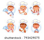 collection of cook chef... | Shutterstock .eps vector #793429075