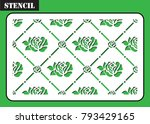 stencil repeat for laser... | Shutterstock .eps vector #793429165
