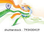 republic day background... | Shutterstock .eps vector #793430419