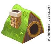 cute fairy house dugout with... | Shutterstock .eps vector #793431064