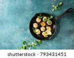 fried scallops with butter... | Shutterstock . vector #793431451