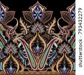 india seamless paisley pattern  ...   Shutterstock .eps vector #793432279