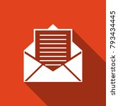 mail and e mail icon isolated... | Shutterstock . vector #793434445