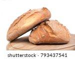 freshly baked loaf of bread on...   Shutterstock . vector #793437541
