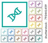 dna molecule flat color icons... | Shutterstock .eps vector #793441459