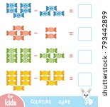 counting game for preschool... | Shutterstock .eps vector #793442899