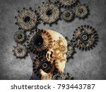 concept of machine learning to... | Shutterstock . vector #793443787