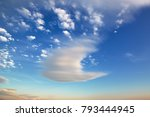 beautiful sky sunset on the sea. | Shutterstock . vector #793444945