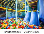 modern children playground... | Shutterstock . vector #793448521