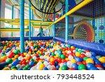 modern children playground... | Shutterstock . vector #793448524
