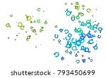 light multicolor  rainbow...   Shutterstock .eps vector #793450699