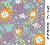 floral seamless pattern with... | Shutterstock .eps vector #79345105