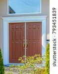 entrance of a house. | Shutterstock . vector #793451839