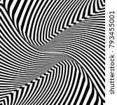abstract op art design. lines... | Shutterstock .eps vector #793455001