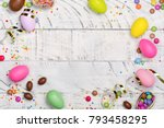 easter chocolate egg and...   Shutterstock . vector #793458295