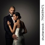 couple beauty portrait  well... | Shutterstock . vector #793459471