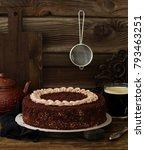 Chocolate Cake. Selective Focus.