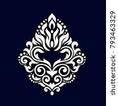 oriental pattern with damask ... | Shutterstock .eps vector #793463329