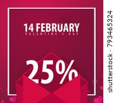 valentines day sale background. ... | Shutterstock .eps vector #793465324
