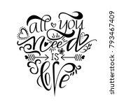 unique brushpen lettering all... | Shutterstock . vector #793467409