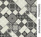 seamless pattern  patchwork...   Shutterstock .eps vector #793468381
