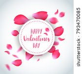 valentines day card with flying ... | Shutterstock .eps vector #793470085