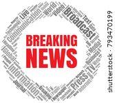news word cloud. breaking news...   Shutterstock .eps vector #793470199