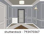 modern classic hall hallway... | Shutterstock .eps vector #793470367