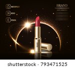 cosmetics beauty series  ads of ... | Shutterstock .eps vector #793471525