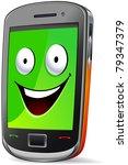smart phone character  smile .  ... | Shutterstock .eps vector #79347379