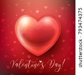happy valentines day greeting... | Shutterstock .eps vector #793474375